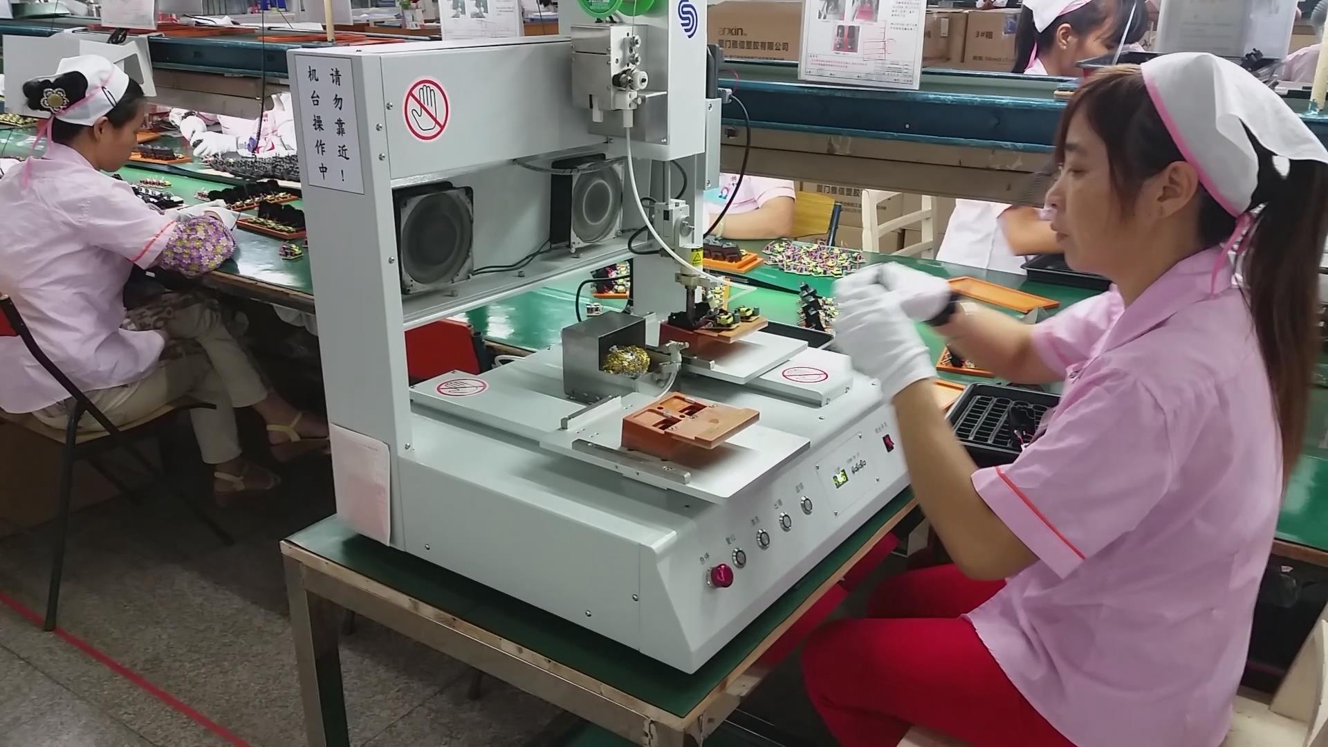 自动焊锡机焊接电路板等精细电子产品时,为使焊接牢靠,一般采用以松香